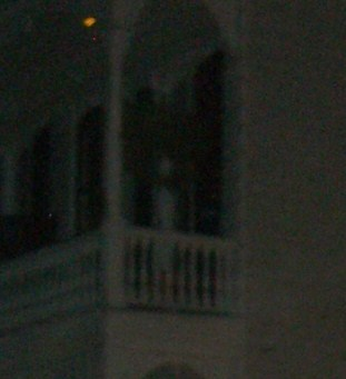 Woman Ghost on French Quarter Balcony - New Orleans