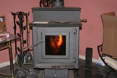 Man in my woodstove