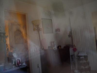 Frightened Ghost from taking her photo